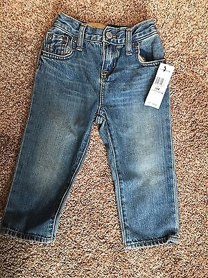 "NWT Ralph Lauren Toddler Boys Jeans Size 18 Months ""Lawrence"" Pants Polo Slim"