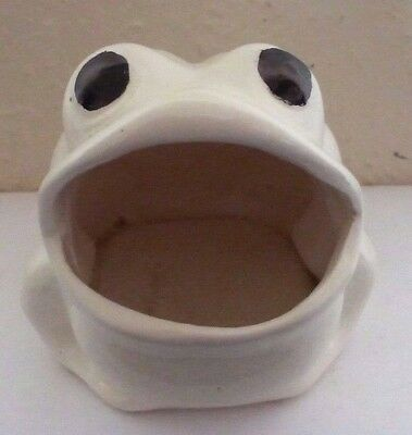 White Frog Pot Pourri Holder (F5)  (F53)