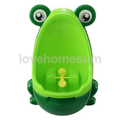 Toddler Boy Portable Toilet Frog Potty Urinal Stand Up Pee Training-Green