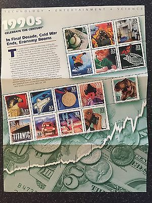 US Mail USPS Presentation Pack Celebrate The Century 1990s Stamps LAST CHANCE