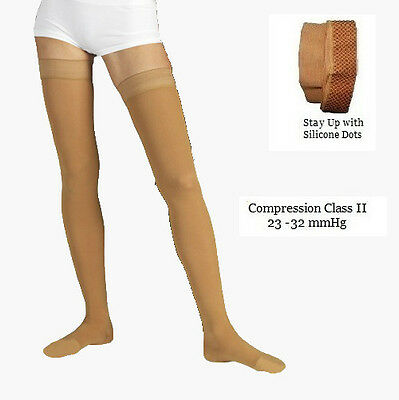 NEW Graduated Compression Stockings Class II Closed Toe 23-32mmHg Thigh High