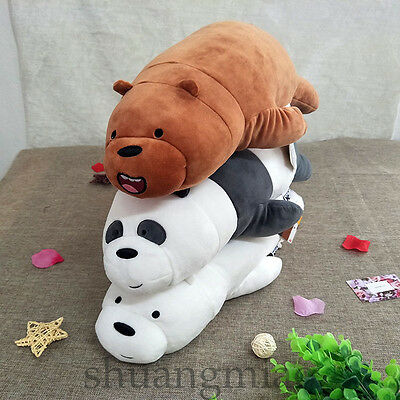 Anime We Bare Bears Plush Hold Pillow Cute Toy 21'' Stuffed Soft Doll Gift