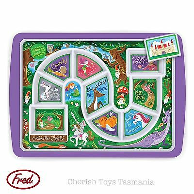Dinner Winner Divided Food Plate Girls Forest Fairy Animals Fun Meal Game Autism