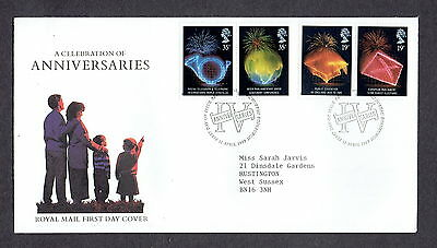 Great Britain - 1989 - Anniversaries, Scott# 1252-55, Combo Cover