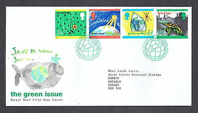 Great Britain - 1992 - The Green Issue, Scott# 1463-66, Combo Cover