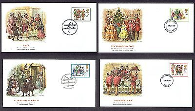 Great Britain - 1978 - Christmas, Scott# 847-50, Fleetwood 4 FDCs