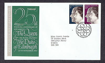 Great Britain - 1972 - 25th Wedding Anniversary of the Queen , Scott# 683-84