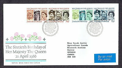 Great Britain - 1986 - QEII Sixth Birthday, Scott# 1137-40, Combo Cover