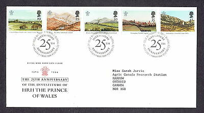 Great Britain - 1994 - 25th Investiture Prince of Wales, Scott# 1548-52, Combo
