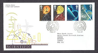 Great Britain - 1991 - Scientific Achievements, Scott# 1360-63, Combo Cover