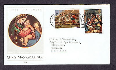 Great Britain - 1967 - Christmas, Scott# 522 & 24, Combo Cover