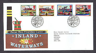 Great Britain - 1993 - Inland Waterways, Scott# 1506-09, Combo Cover