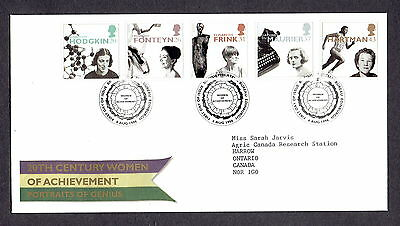 Great Britain - 1996 - 20th Century Women of Achievement, Scott# 1693-97, Combo