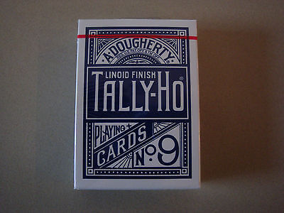 Tally-Ho Fan Back Blue Deck Of Playing Cards By Uspcc Poker Size Magic Tricks