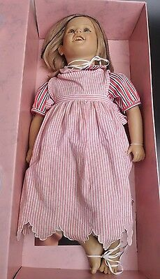 """Annette Himstedt Doll """"lisa"""" From The Barefoot Children Series With Box"""