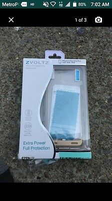 ZVOLTZ ZT6 Series MFI Certified 4000mAh Battery Case for iPhone 6 plus Champagne