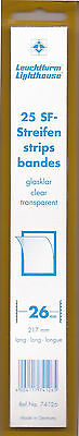 .Lighthouse Clear Top Open stamp mounts - 217mmx26mm -25 per pkg-new-Free Ship