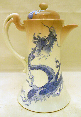 Magnificent Japanese Meiji Studio Porcelain Coffee Pot by Nishiura