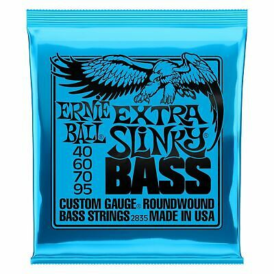 Ernie Ball 2835 Extra Slinky Roundwound Bass Guitar Strings 40 - 95