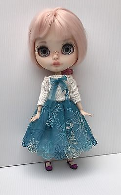 Blythe Doll Outfit-Embroidered Lace Skirt And Knitted Top
