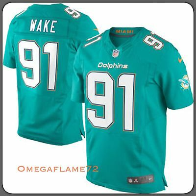 Nike NFL Miami Dolphins # 91 Wake Jersey Players On Field Sz XL