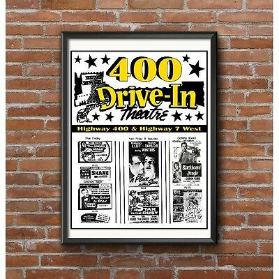 Drive-In Movie Theatre Poster - 1950's - 400 Drive-In Near Toronto Canada