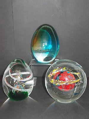 Art Glass Paperweights 3 Design/size Options
