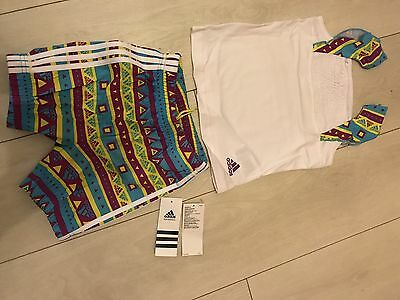 Adidas Baby Infant Girls Beach Set Holiday Outfit Top Shorts 12-18 Months Bnwt!!
