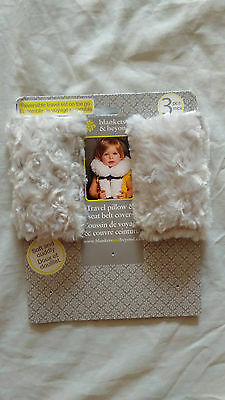NWT Blankets & Beyond Travel Soft Plush Fabric and Cuddly Seat Belt Covers Only