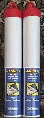 Lot of 2 NEW The Magnet Source TMS8504 Magnetic Sheeting 12 x 24 in. BRAND NEW