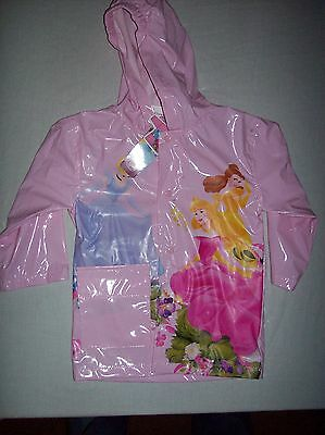 Disney Pink Princess Rain Jacket Size 3X