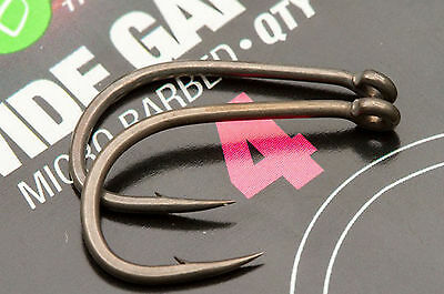 Korda Wide Gape Carp Fishing Hooks - Barbed & Barbless Sizes 2 - 12 Available