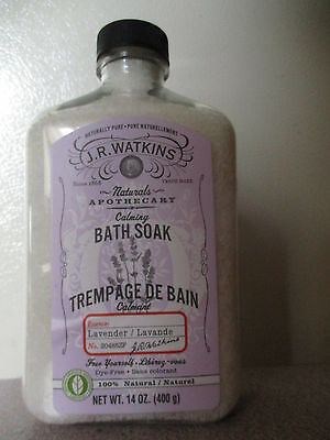 Watkins Naturals Calming Lavender Bath Soak 100% Natural 14 OZ. (400g)