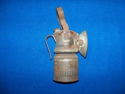 Antique Unusual Metal Wolf Safety Lamp Coal Mine Mining Carbide Lamp Light