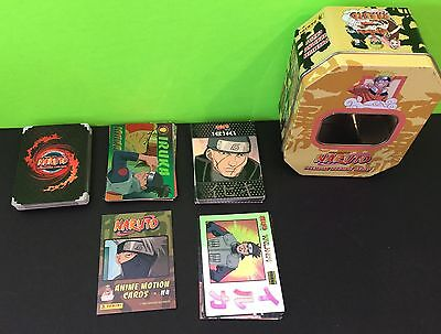2002 Naruto Collectors Tin With 83 Premium Cards Collectable