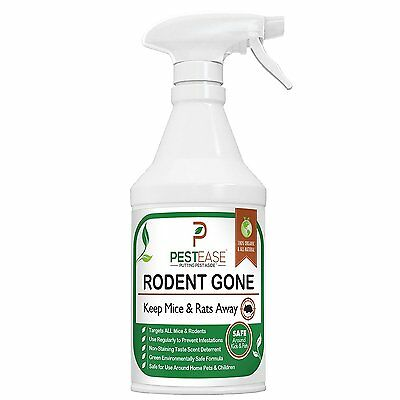PestEase Mice Repellent Spray 16OZ  Rodent Gone -Humane Mouse  - FREE SHIP