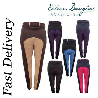 Ladies Cotton Quality 2 Tone Jods NEW! - Many Colours Jodhpurs / Jodphurs