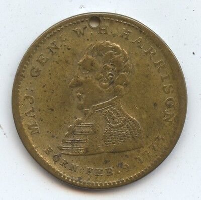 Hard Times Token HT-815 R-4 (#7482) Major General Harrison 1840. Peoples Choice.