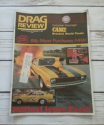 Drag Review IHRA - November 7 1987 - Billy Meyer Tony Russell Odell Davidson