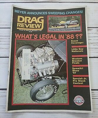 Drag Review IHRA - December 4 1987 - Ewing Bros Chevy Camaro Pro Stock