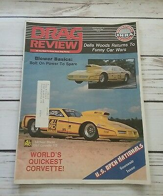 Drag Review IHRA - August 29 1987 - Michael Martin Corvette Della Woods