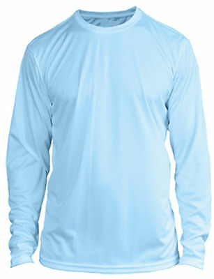 YOUTH Long Sleeve UPF SPF Sun Protection Boating Fishing Shirt - Arctic