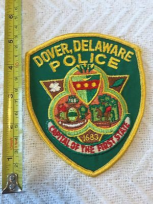 Dover DE Delaware Police Department Police Patch Large Official Unused!!!