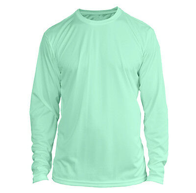 YOUTH Long Sleeve UPF SPF Sun Protection Boating Fishing Shirt - Seafoam Green