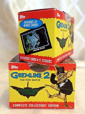 NEW Lot GREMLINS 2 Movie 1990 TOPPS Collector Edition Card Stickers SET Complete