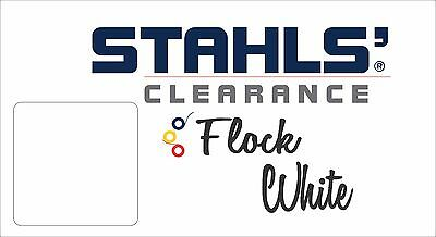 "9"" x 10 Yards - Stahls' Craft Roll Flock Heat Transfer Vinyl HTV - White"