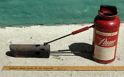 VTG Montgomery Ward/ Ward's Flame Sprayer Weed Killer Ice Melter Cool SteamPunk