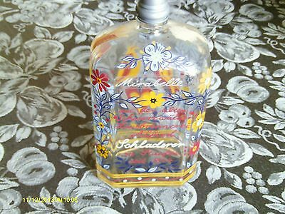 Rare Vintage Glass Bottle  Schladerer MIRABELLE