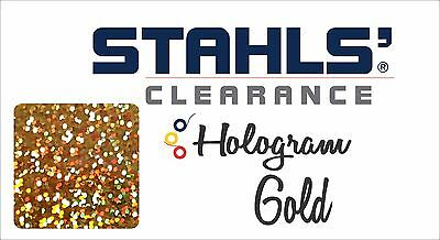 "8"" x 10 Yards - Stahls' Hologram Heat Transfer Vinyl HTV - Gold"