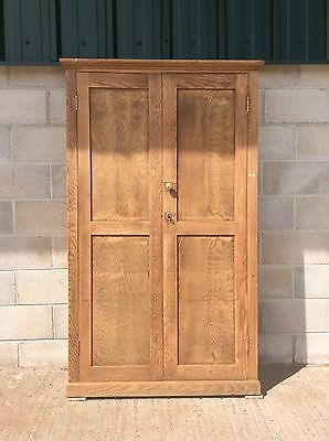 Old Pitch Pine School Cupboard